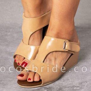 Women's Velcro Slingbacks Flat Heel Sandals