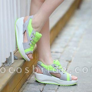 Women's Lace-up Wedge Heel Sandals