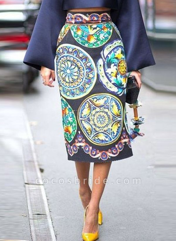 Casual Floral Wrap Square Neckline Sheath Dress