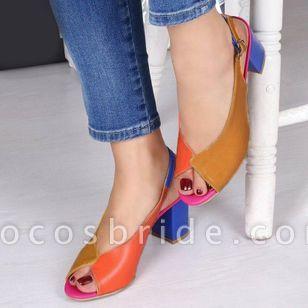 Women's Buckle Slingbacks Chunky Heel Sandals