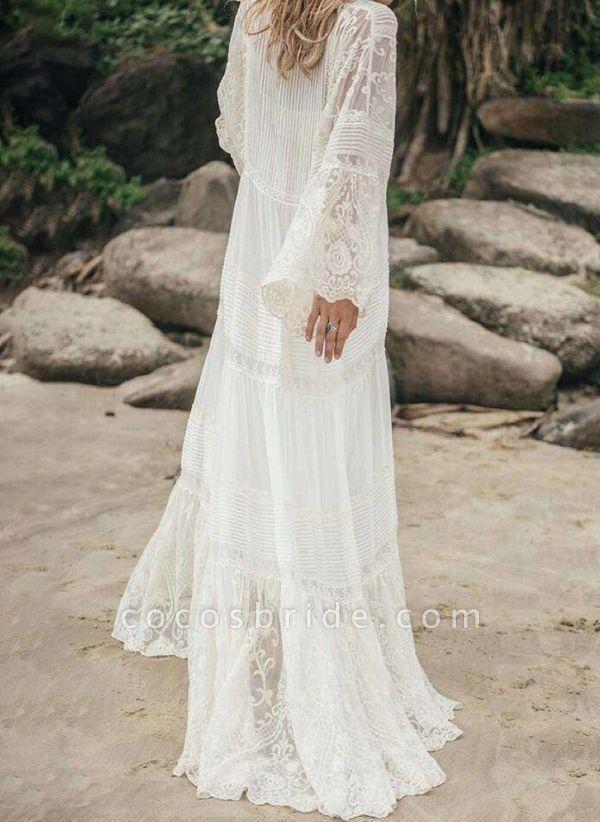 White Casual Solid Tunic V-Neckline Shift Dress