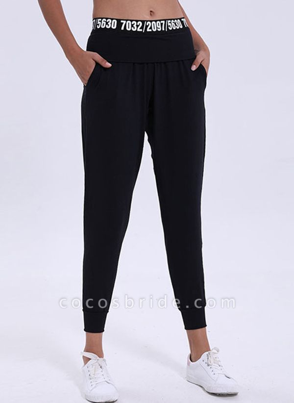 Women's Athletic Casual Polyester Fitness Pants Fitness & Yoga