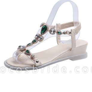 Women's Buckle Slingbacks Low Heel Sandals