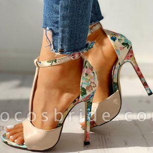 Women's Buckle Flower Heels Stiletto Heel Sandals