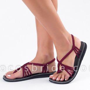 Women's Slingbacks Cloth Flat Heel Sandals Flats