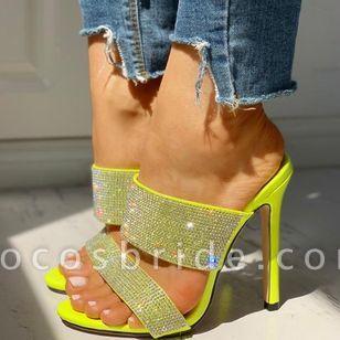 Women's Sequin Slingbacks Stiletto Heel Sandals
