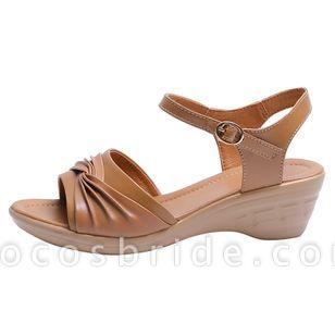 Women's Buckle Slingbacks Low Heel Sandals