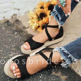 Women's Flats Linen Flat Heel Sandals
