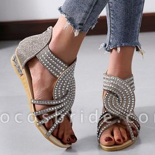 Women's Hollow-out Flats Flat Heel Sandals