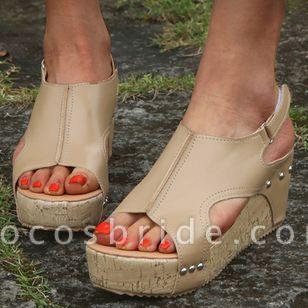 Women's Slingbacks Wedge Heel Sandals Platforms