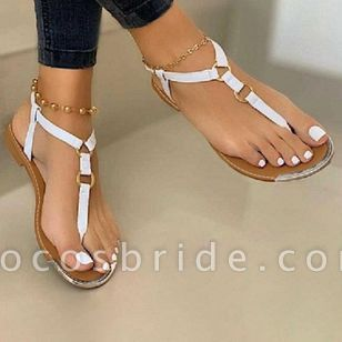 Women's Buckle Flats Slingbacks Flat Heel Sandals