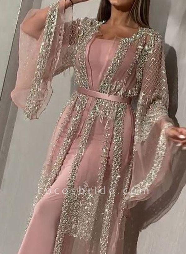 Elegant Color Block Pencil Round Neckline Sheath Dress