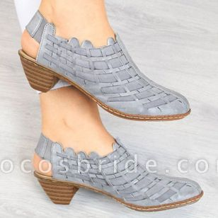 Women's Knit Heels Cone Heel Sandals