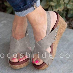Women's Slingbacks Wedge Heel Sandals