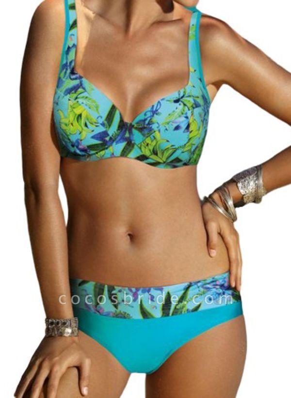 Polyester Pattern Floral Bikinis Swimwear