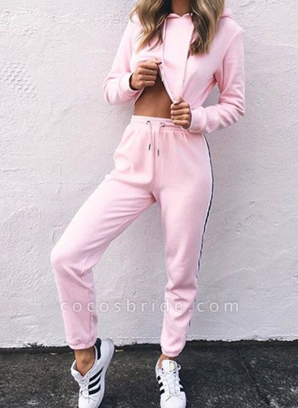 Women's Athletic Casual Cotton Blends Fitness Clothing Suit Fitness & Yoga