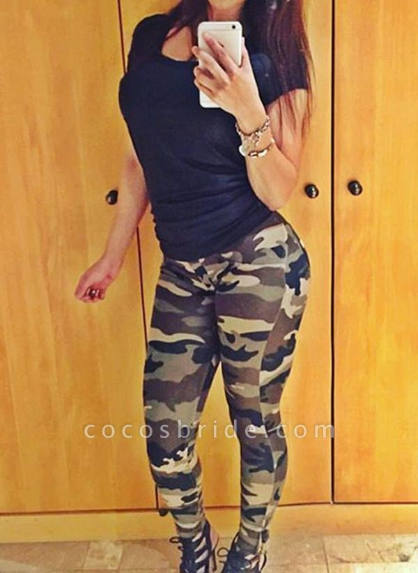 Women's Athletic Casual Fashion Polyester Yoga Leggings Fitness & Yoga