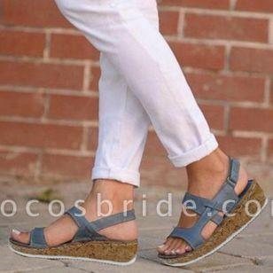 Women's Velcro Flats Flat Heel Sandals