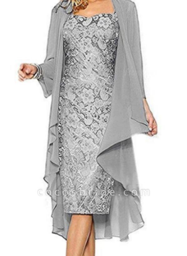 Casual Solid Pencil Square Neckline Sheath Dress