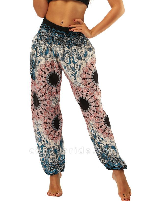 Women's Athletic Casual Sporty Polyester Yoga Bottoms Fitness & Yoga