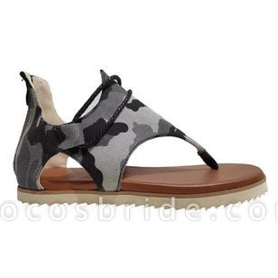 Women's Geometric Zipper Flip-Flops Flat Heel Sandals