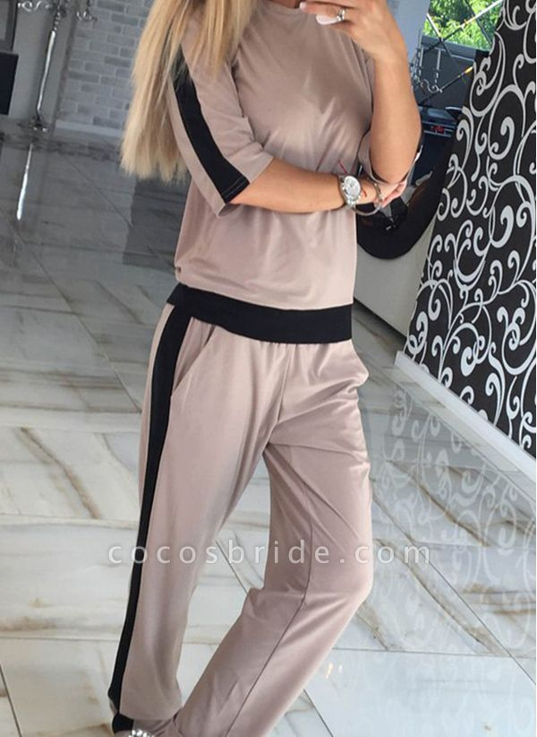 Women's Athletic Casual Polyester Fitness Clothing Suit Fitness & Yoga