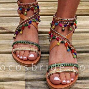 Women's Beading Flats Flat Heel Sandals