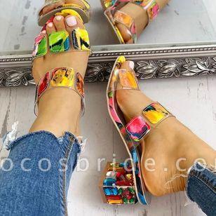 Women's Crystal Heel Slingbacks Chunky Heel Sandals