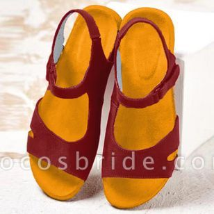 Women's Flats Nubuck Flat Heel Sandals