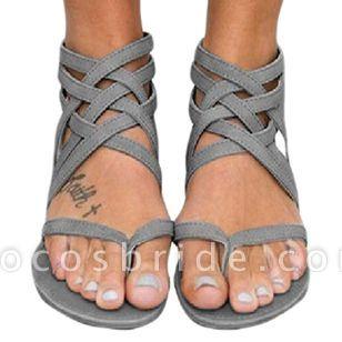 Women's Zipper Flip-Flops Flat Heel Sandals