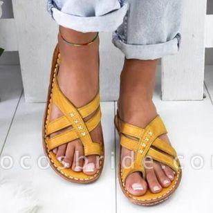 Women's Geometric Flats Flat Heel Sandals