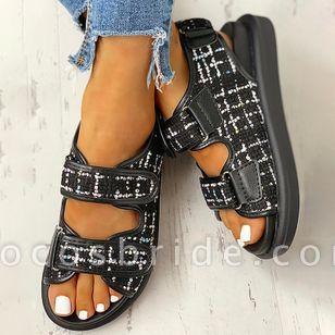 Women's Velcro Slingbacks Wedge Heel Sandals