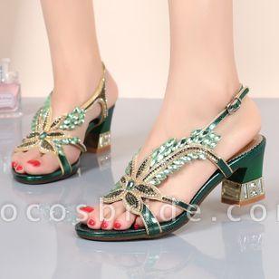 Women's Flower Heels Chunky Heel Sandals