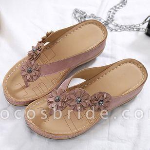 Women's Peep Toe Slingbacks Wedge Heel Sandals