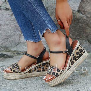 Women's Buckle Slingbacks Wedge Heel Sandals