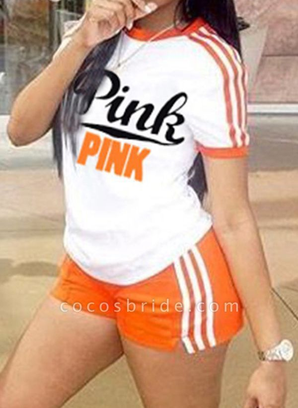 Women's Athletic Casual Sporty Polyester Fitness Clothing Suit Fitness & Yoga
