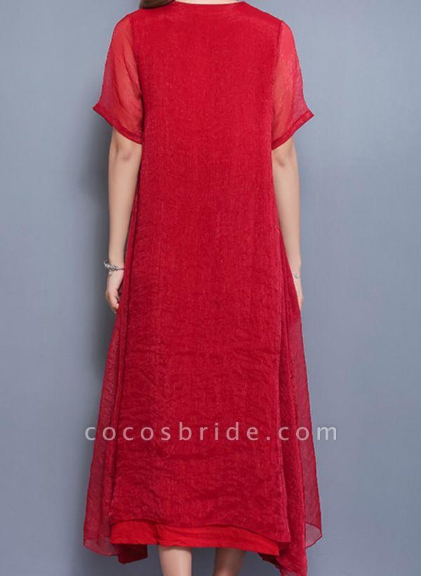 Arabian Floral Tunic Round Neckline Shift Dress