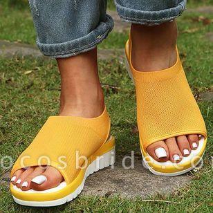 Women's Flats Cotton Flat Heel Sandals