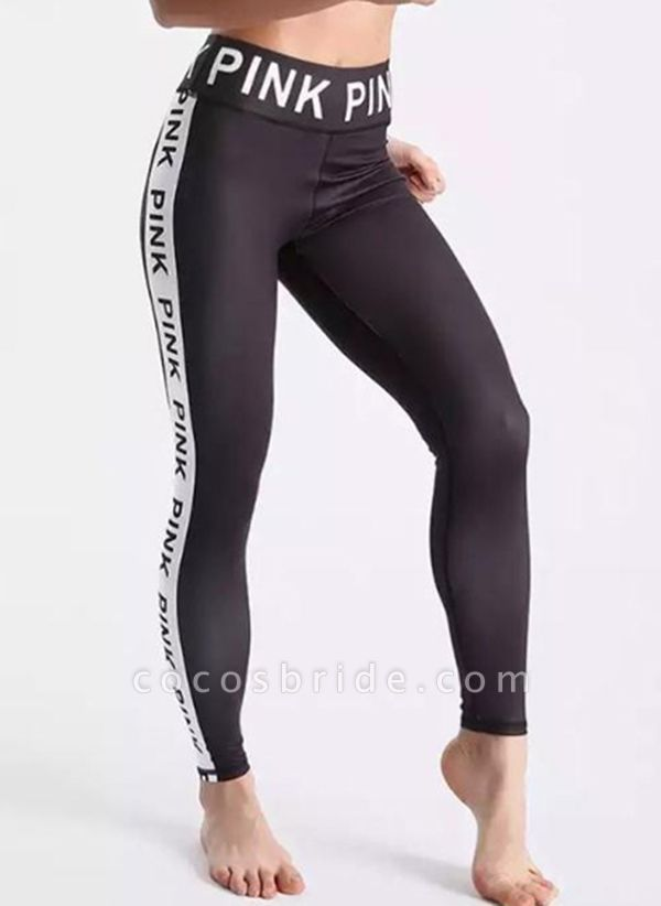 Women's Athletic Casual Sporty Polyester Yoga Pants Fitness & Yoga