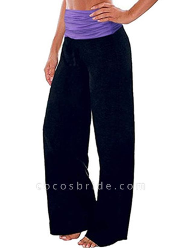 Women's Casual Cotton Blends Yoga Pants Fitness & Yoga