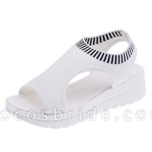 Women's Slingbacks Fabric Wedge Heel Sandals Platforms