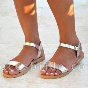 Women's Buckle Slingbacks Flat Heel Sandals
