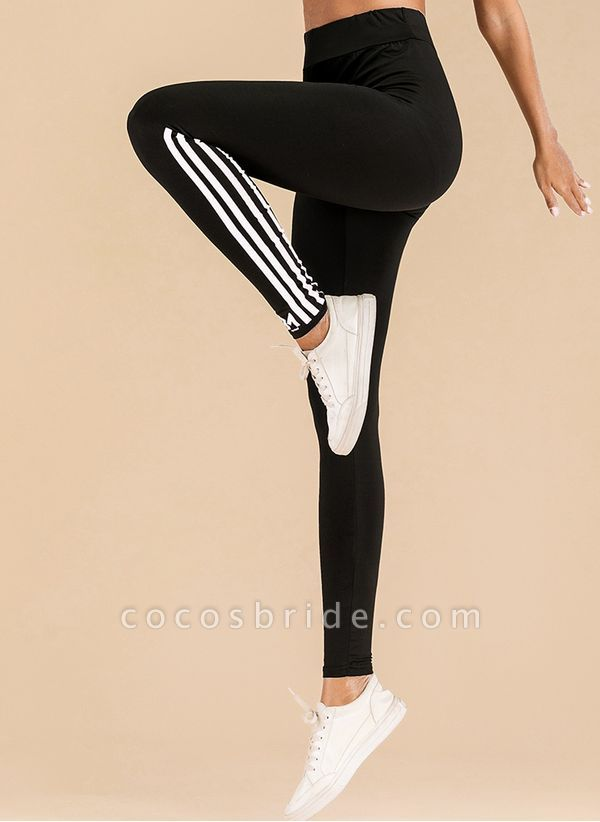 Women's Athletic Casual Basic Sporty Polyester Yoga Leggings Fitness & Yoga
