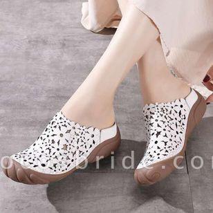 Women's Hollow-out Flower Slingbacks Flat Heel Sandals