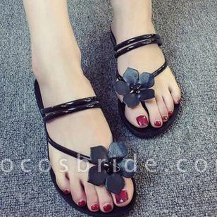 Women's Flower Flats Flat Heel Sandals