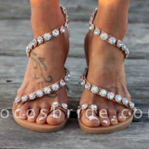 Women's Flower Flats Slingbacks Flat Heel Sandals