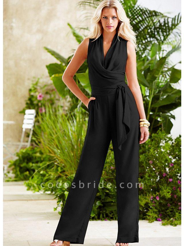 Women's Black Wide Leg Jumpsuit