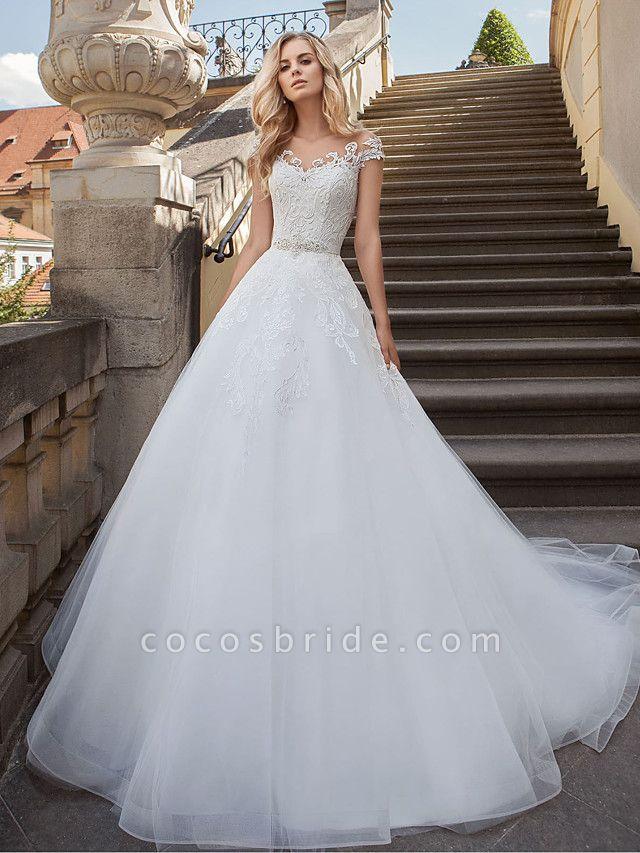 Lt7901038 Beads A-line White Boho Beach Wedding Dress