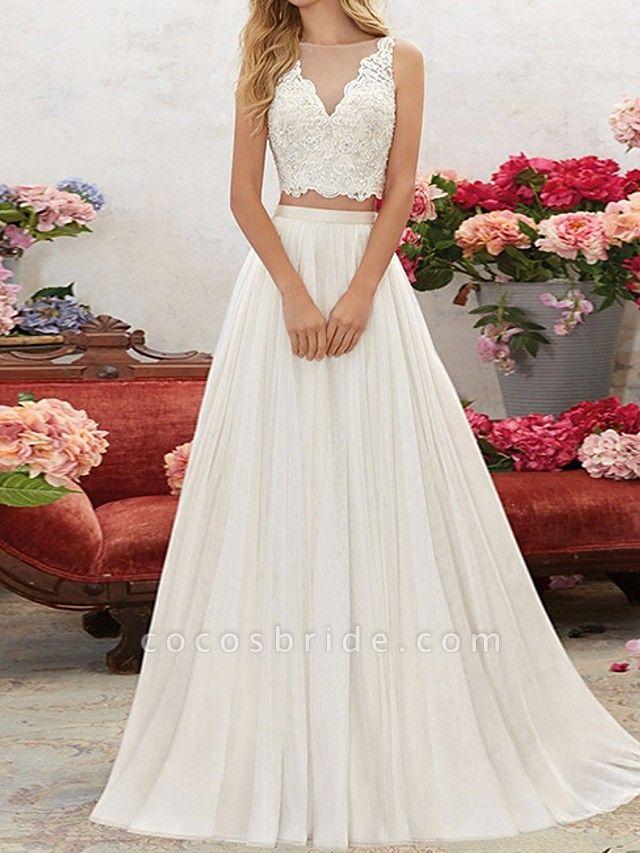 Lt7928518 V-neck Beading Belt Boho Wedding Dress