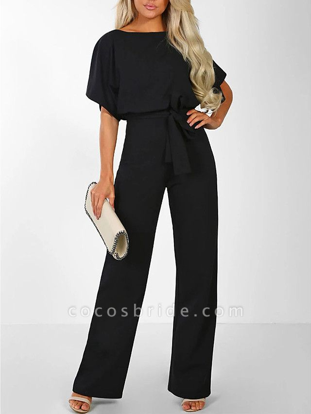 Women's Basic \ Street chic Black Blue Red Romper